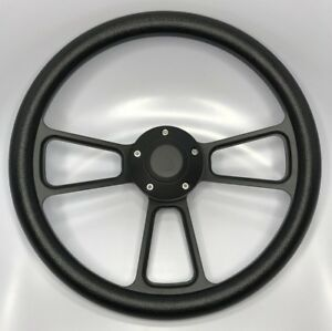 14 Black Billet Hot Rod Muscle Car Forever Sharp Steering Wheel Ford Chevy