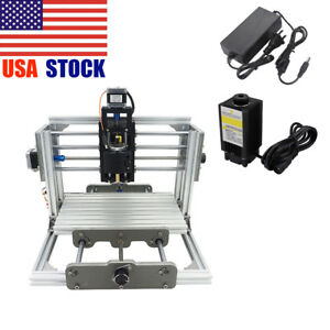 3 Axis Cnc Router Milling Wood Engraving Machine Printer 500mw Laser Engraver