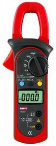 Digital Clamp Multimeters Ut 203 Ohm Dmm Dc Ac Current Voltmeter 400a