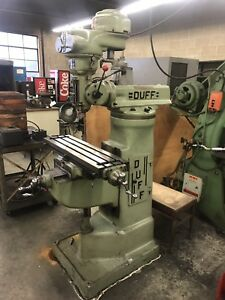 Duff 30 j Milling Machine Excellent Shape Small Adjustable Speed