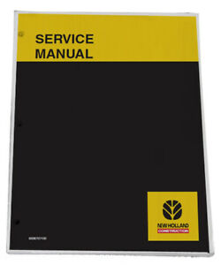 New Holland E80 Excavator Service Manual Repair Technical Shop Book