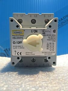 Hubbell Hbl30mirs Replacement Disconnect Switch 60 Amp 600vac