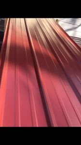3x25 Brand New Metal Roofing Panels Red Color 24gauge 50 Sheets