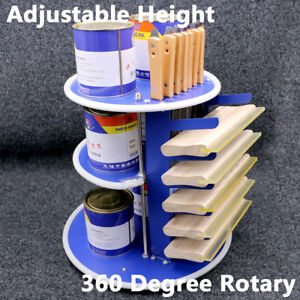Screen Printing Rotatable Storage Rack Ink Squeegee Organising Adjustable Height