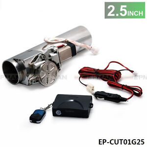 2 5 Inch Electric Exhaust Catback Downpipe E Cutout Valve System Remote Kit