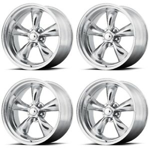 Set 4 14 Torq Thrust Ii Vn515 Polished Classic Wheels 14x7 5x4 75 0mm 5 Lug