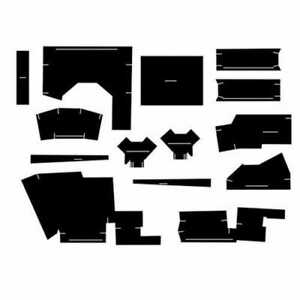 Cab Foam Kit With Headliner Black Compatible With Case 770 1070 870 970 1175