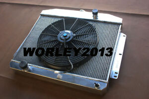 3 Core Aluminum Radiator Fan For Mercury Car W Ford 302 V8 1949 1950 1951 Mt