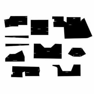 Cab Foam Kit With Headliner For Tractors With Cab Black Case 1175 1070 870 970