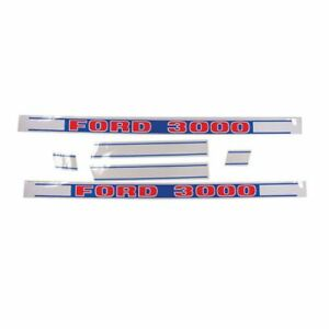 Decal Set 3000 Ford 3000 Npn16605h