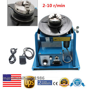 Auto Rotary Welding Positioner Turntable Mini 2 5 3 Jaw Lathe Chuck 10kg Sale