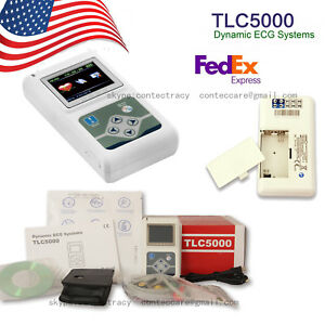 Usa 12 Channels Ecg Holter Ekg Holter Ecg Monitor System Ecg Recorder pc Sw
