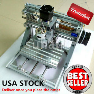 Mini 3 axis Cnc 1610 Router Engraver Diy Carving Machine Pcb Pvc Milling Wood Us