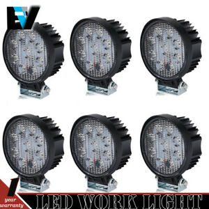 6x 162w Round Led Light Pod 4inch Spot Work Off Road Roof Bar Bumper Driving Blk