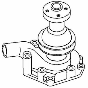 Water Pump Oliver 1800 104354as