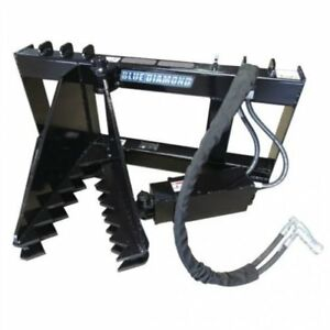 Blue Diamond Skid Steer Attachment Tree Puller Quick Attach