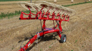 Enorossi 10 Wheel 22 High clearance Hay Rake With Independent Rake Wheel Arms