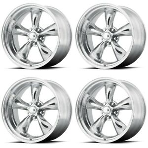 Set 4 15 Torq Thrust Ii Vn515 Polished Classic Rims 15x7 5x4 5 6mm Ford 5 Lug