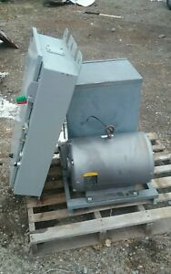 Steelman Rotary 3 phase Converter 20hp Motor And Electric Panel Package