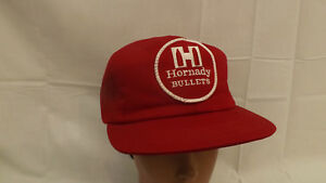 Vtg Hornady Bullets Ammo Embroidered Patch Snapback Mesh Hat Cap USA made $19.99