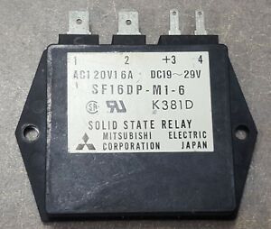 Mitsubishi Solid State Relay Sf16dp m1 6 K381d Dc19 29v Ac120v 16amps