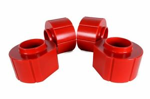 Jeep Wrangler Tj 2 Polyurethane Spacer Lift Kit Complete Set Of 4 In Red 97 06