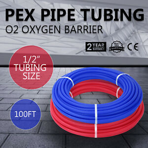 200 1 2 Oxygen Barrier Pex Tubing 100 Red And 100 Blue Water Plumbing Top