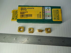 4 Pcs New Walter Sehw 1204afn Wtp35 Carbide Inserts Machine Shop Toolmaker Tools