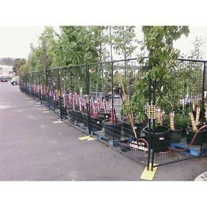 New Perimeter Patrol Welded Wire Black Powder Coat Fence 7 6 wx6 h 4 Panel Kit