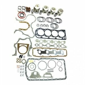 Engine Rebuild Kit Less Bearings Standard Pistons Ford 7700 7100 7600 7000