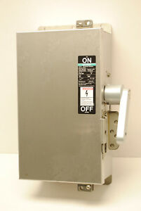 Siemens F351ss Stainless Steel Disconnect Safety Switch 30 amp 600 volt 3 fuses