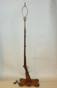Antique German Rifle As Floor Lamp F Fiege In Driesen Carved Silver Work