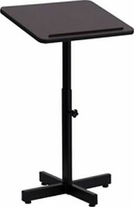 Metal Lectern Podium Adjustable Height Black Framelaminate Surface Church Office