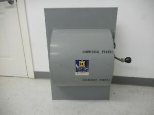 Square D 92255 400 Amp 240 Volt Single Phase Indoor Double Throw Transfer Switch