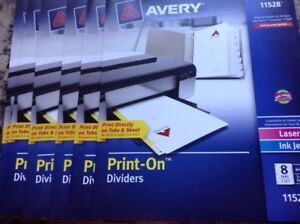 Avery Customizable Print on Dividers 8 tab Letter 6 Pack