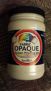 Opaque Fabric Screen Printing Ink Size 3 88 X 3 88 Color Pearly
