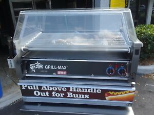 Star Mfg Grill max Electronic Hot Dog Roller Grill W 50 bun Drawer