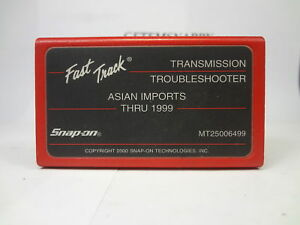 Snap On 1999 Asian Transmission Troubleshooter Cartridge Mt2500 Scanner