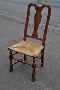 Stickley Fayetteville Cherry Rush Seat Side Chair