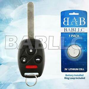 Replacement For 2008 2009 2010 2011 2012 Honda Accord Ex Lx Key Fob Remote