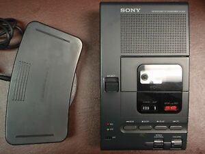 Sony M2000 Microcassette Transcriber With Foot Pedal Ac Adapter And New Headset