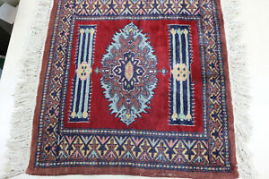 Estate Find Fine Quality Vintage Balouch Tribal Prayer Rug Square Religious
