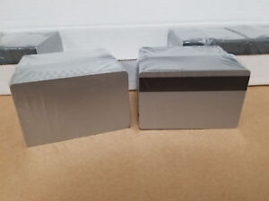Silver Pvc 3 Track Hico Mag Cards Cr80 30 Mil Magnetic Stripe Pack Of 100