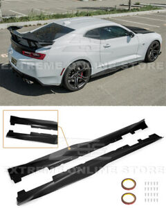 Eos Body Kit Zl1 Style Abs Side Skirts Panels Extension For 16 Up Camaro Ss Rs