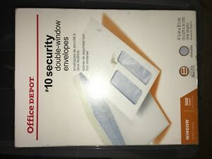 Box Of 1000 Office Depot 10 Security Medical Claim Business Env