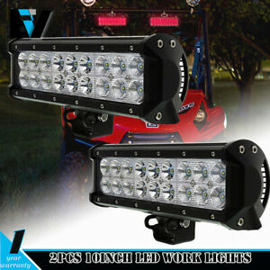 2x10inch 108w Cree Led Work Light Bar Flood Lamp Spot Beam Offroad Ute Truck 4wd