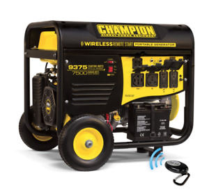 Champion Portable Generator Remote Start 100161 7500 Watt Electric Start New