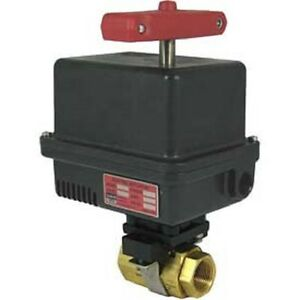 Gemini Valve Brass Barstock Ball Valve W 600 Series 24dc Electric Actuator 1 1 2