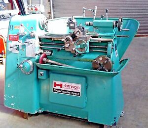 Harrison 10 aa Engine Toolroom Lathe W toolpost 3 4 Jaw Chuck Lots Of Extra s