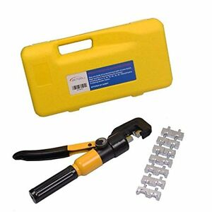 Wire Strippers 10 Ton Hydraulic Terminal Crimper Battery Cable Lug Crimping Tool